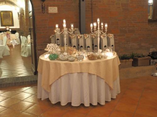 Ingresso, il tavolo delle bomboniere