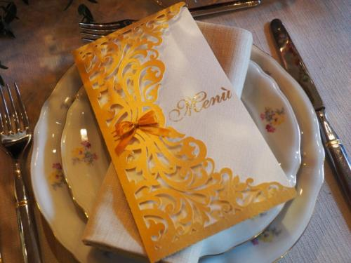 Mise en place stationery by Creazioni la Fenice