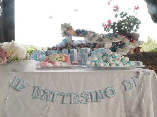 Battesimo per bambino allestimento confettata