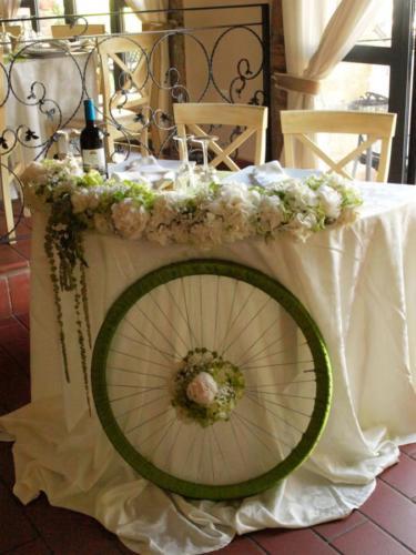 Il tavolo degli sposi particolare