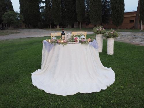 Il tavolo degli sposi in un'altra veste